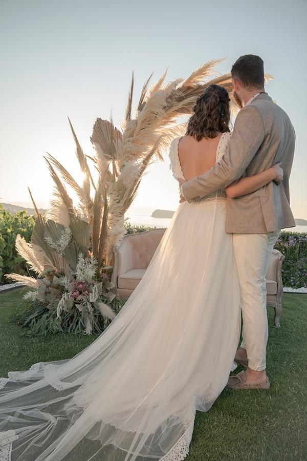 Στολισμός δεξίωσης για έναν bohemian style γάμο