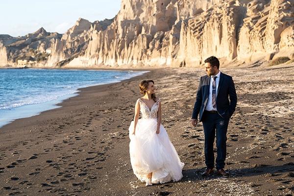 Dusty blue φθινοπωρινός γάμος στην Σαντορίνη │ Σπυριδούλα & Αριστομένης