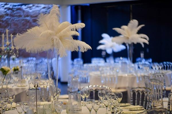 Υπέροχα centerpieces για gatsby theme γάμο