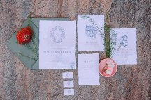 Minimal προσκλησεις γαμου απο Atelier Invitations