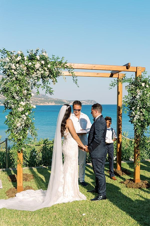 Ρουστίκ αψίδα σε σχήμα Π για τελετή γάμου