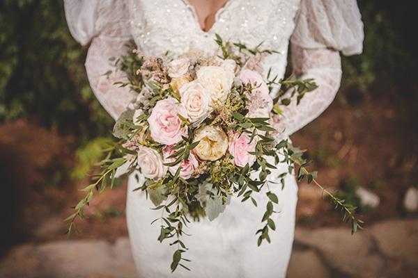 Νυφικη ανθοδεσμη με david austin τριανταφυλλα