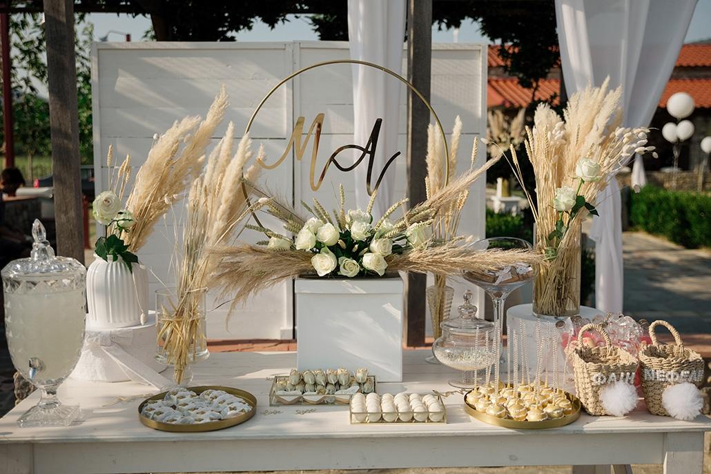 Ιδέες διακόσμησης για μποέμ γάμο με pampas grass