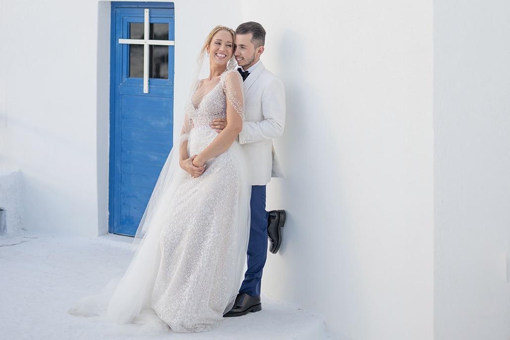 Φθινοπωρινός γάμος στην Τήνο με ρομαντικά στοιχεία και λευκές αποχρώσεις │ Κατερίνα & Βασίλης