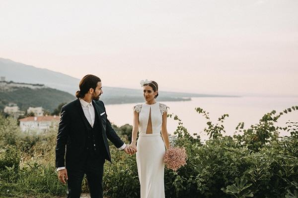 Μinimal chic καλοκαιρινός γάμος στο Λιτόχωρο│ Αγνή & Αντώνης