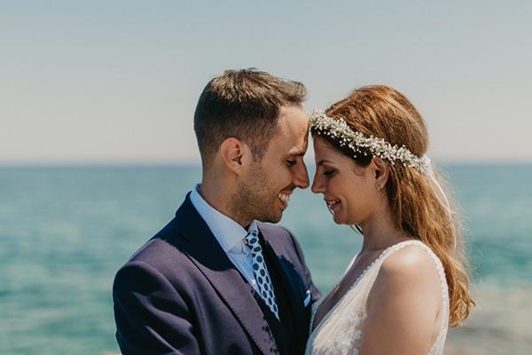 Υπαιθριος καλοκαιρινος γαμος στο Πορτο Χελι σε λευκες αποχρωσεις │ Νεκταρια & Αντωνης