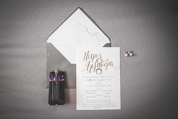Stylish προσκλητηρια γαμου με marble design