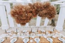 Πρωτοτυπη ιδεα διακοσμησης τραπεζιου δεξιωσης με dried flowers