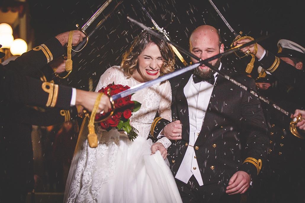 Χειμωνιάτικος στρατιωτικός γάμος στην Αθήνα│ Εύη & Νίκος