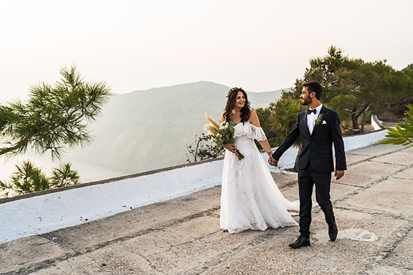 Bohemian φθινοπωρινός γάμος στη Σαντορίνη │ Ηρώ & Μάρκος