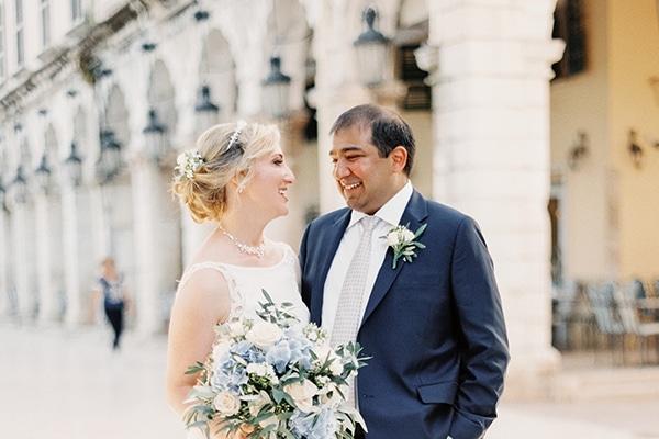 Ρομαντικός γάμος στην Κέρκυρα με dusty blue αποχρώσεις και elegant πινελιές │ Olga & Rohan