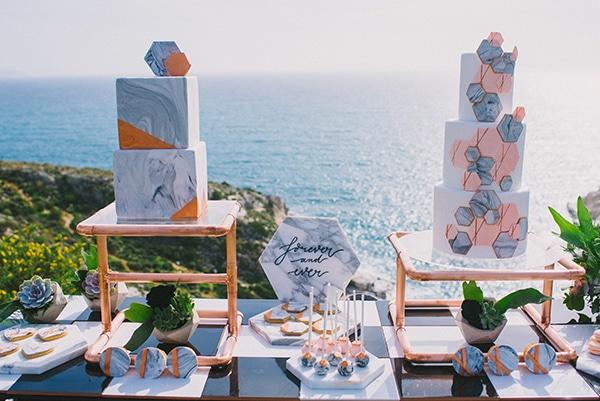 Elegant στολισμός dessert table γάμου