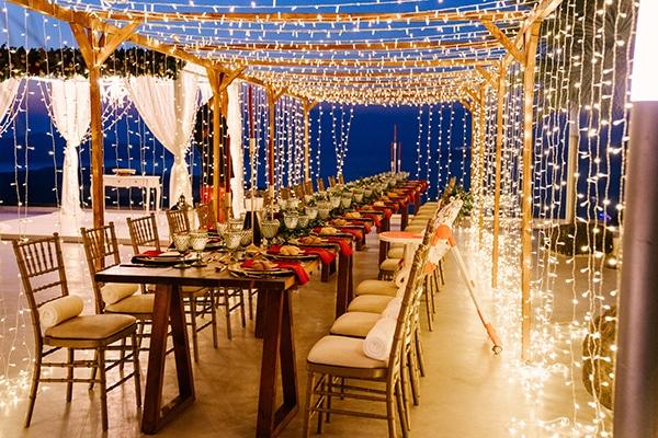 Μαγευτική δεξίωση γάμου με fairy lights