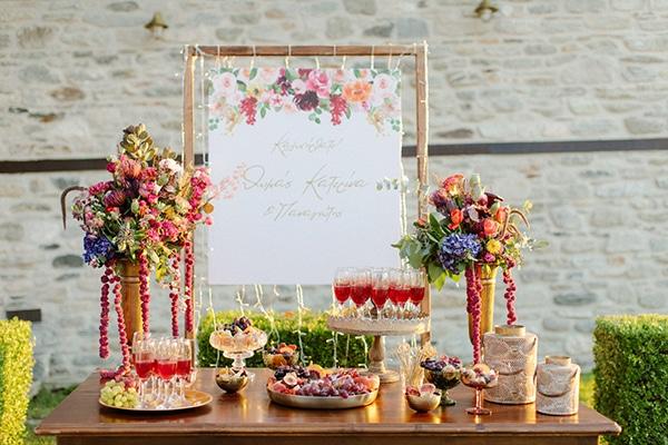 Ρουστίκ dessert table γάμου
