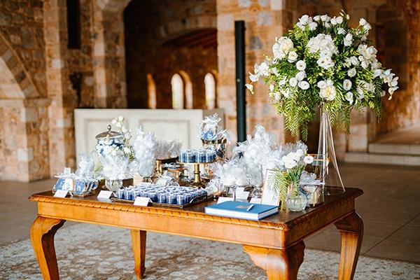 Ρουστίκ – ρομαντικός στολισμός dessert table γάμου