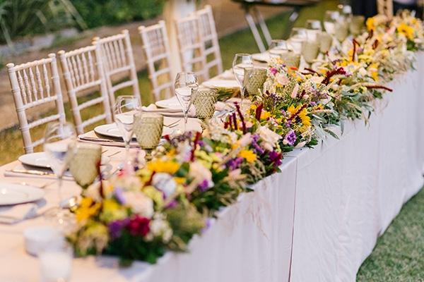 Στολισμός γαμήλιο τραπέζι