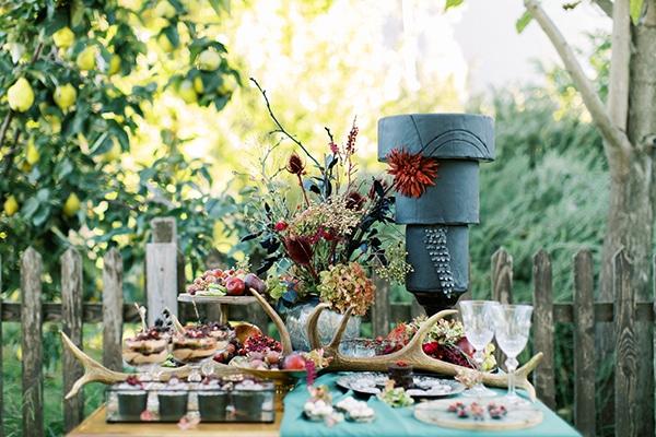 Πρωτότυπο dessert table γάμου για χειμωνιάτικο γάμο