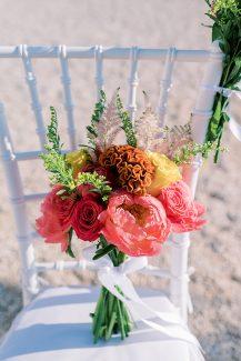 Νυφική ανθοδέσμη με παιώνιες και τριαντάφυλλα