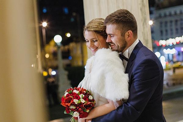 Όμορφος χειμωνιάτικος γάμος στην Αθήνα με κόκκινα τριαντάφυλλα και ρομαντική διάθεση │Δήμητρα & Αλέξανδρος
