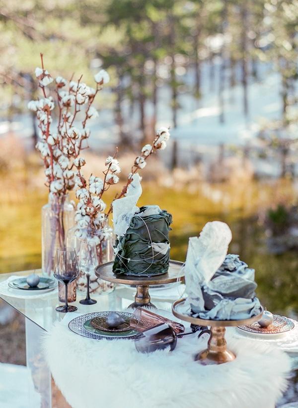 Χειμωνιάτικο Dessert table σε εξωτερικό χώρο