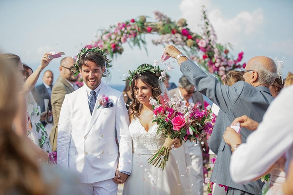 Ρομαντικός καλοκαιρινός γάμος στην Κεφαλονιά με μπουκαμβίλιες │Amanda & Νικόλας