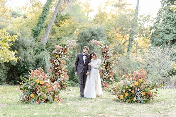 Εντυπωσιακό φθινοπωρινό styled shoot στο δάσος σε rustic στυλ