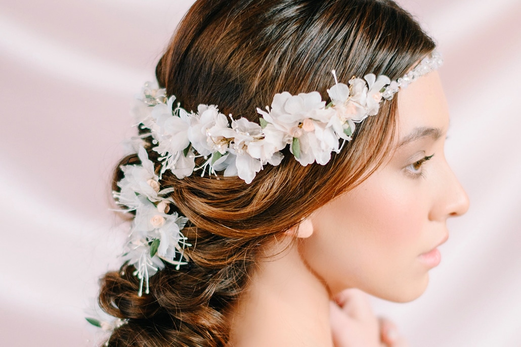 Yπέροχα νυφικά αξεσουάρ για μαλλιά νύφης