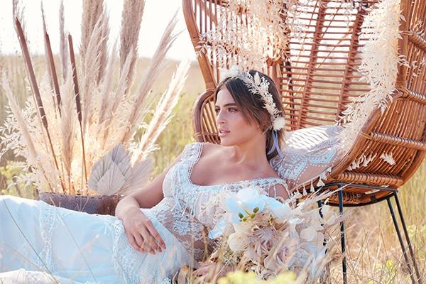 Boho inspired φωτογράφιση στην ύπαιθρο με chic ιδέες διακόσμησης