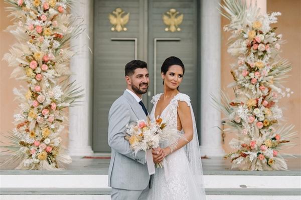 Φθινοπωρινός γάμος με εντυπωσιακό tropical style  │ Σοφία & Γιώργος