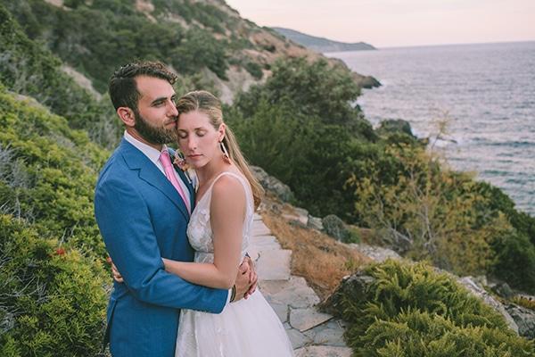 Ρομαντικός destination γάμος στην Εύβοια με μπουκαμβίλιες και μαγευτική θέα│ Nikki & Craig