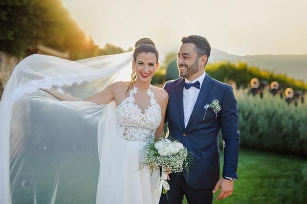 Ρομαντικός καλοκαιρινός γάμος στην Αθήνα με παιώνιες και γυψοφίλη  │ Ειρήνη & Σπύρος