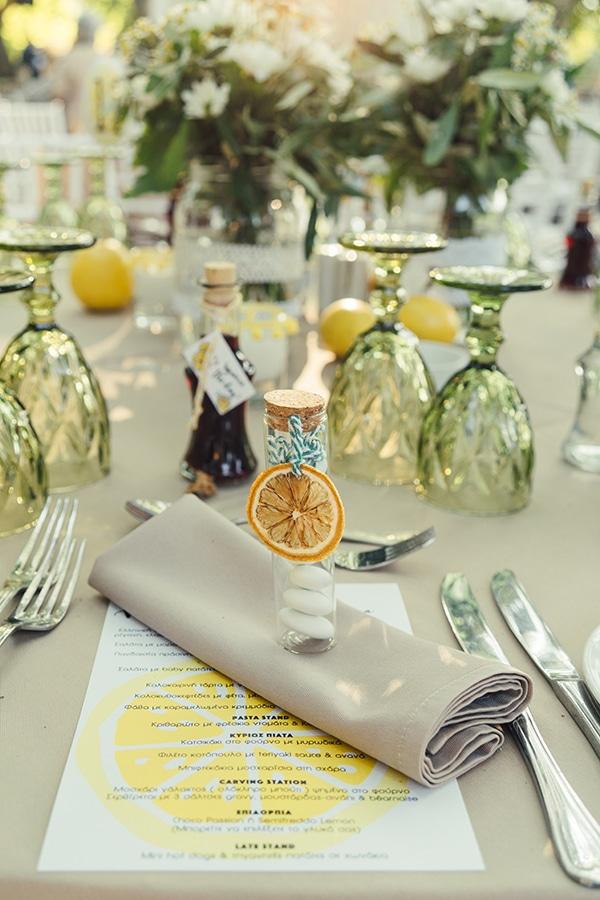 Υπέροχες μπομπονιέρες – κεραστικά γάμου σε γυάλινο δοχείο με σχοινάκι και λεμόνι