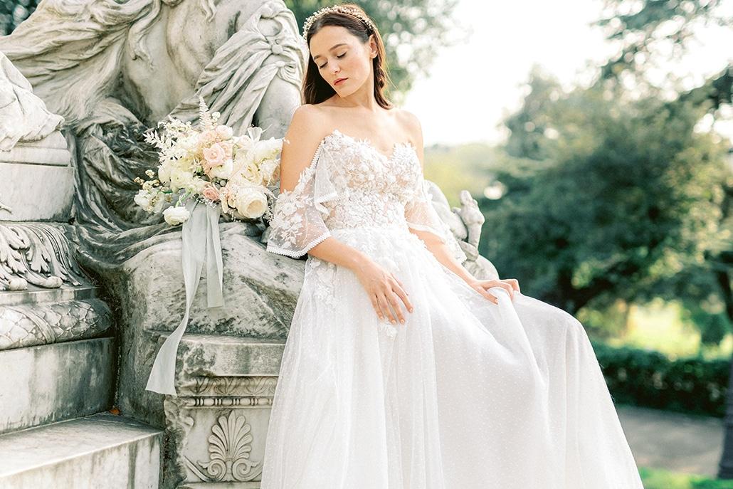 Oνειρική φωτογράφιση στη Ρώμη με τα πιο ρομαντικά νυφικά φορέματα