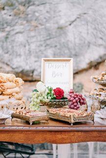 Ρουστίκ dessert bar γάμου