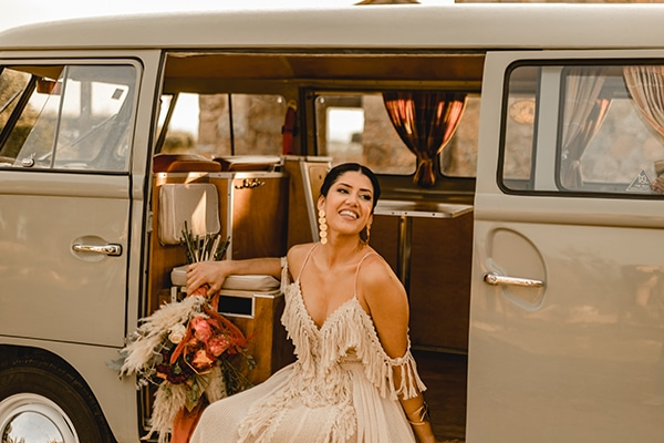 Gorgeous boho chic wedding inspiration in Athens Riviera