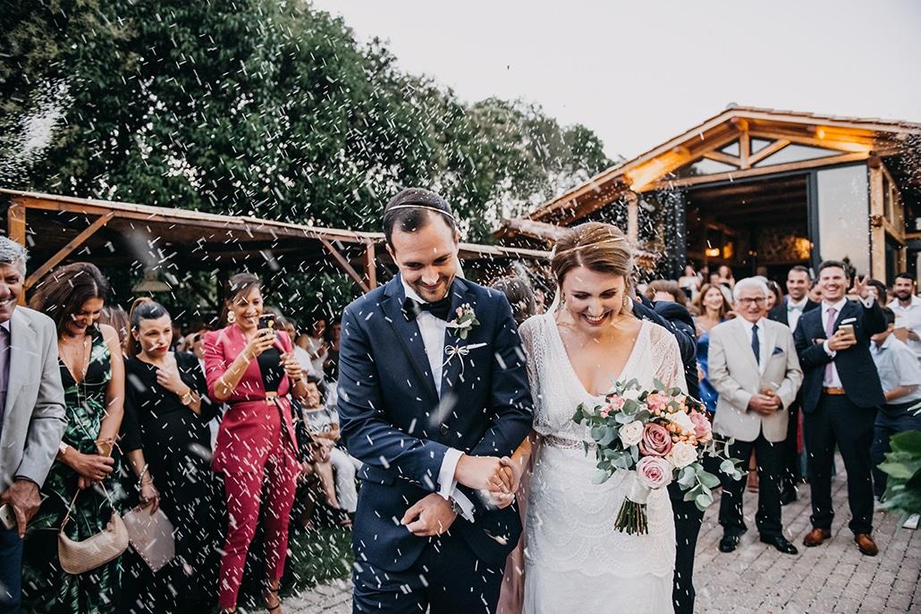 Rustic καλοκαιρινός γάμος στην Αθήνα με τριαντάφυλλα σε λευκές και dusty pink αποχρώσεις│ Χάρις & Αναστάσης