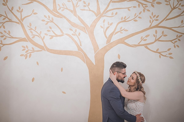 Bohemian καλοκαιρινός γάμος στην Αθήνα με pampas grass και τριαντάφυλλα σε ροζ και κοραλί αποχρώσεις │ Χαρά & Γιώργος