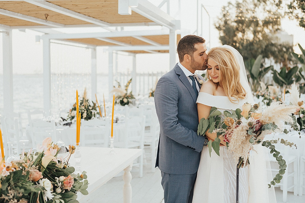 Bohemian – chic γάμος στην Κύπρο με pampas grass και ροζ τριαντάφυλλα │Παντελίνα & Γιώργος