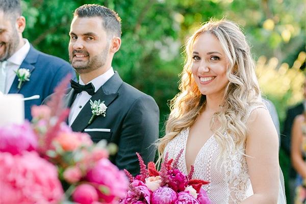 Luxurious καλοκαιρινός γάμος με πλούσιο ανθοστολισμό στα πιο φανταχτερά χρώματα του φούξια και του μωβ │ Ελεάννα & Δημήτρης
