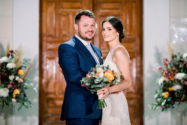 Ρουστίκ καλοκαιρινός γάμος στην Κόρινθο με τριαντάφυλλα, ντάλιες και pampas grass │Μαριφίλη & Βασίλης