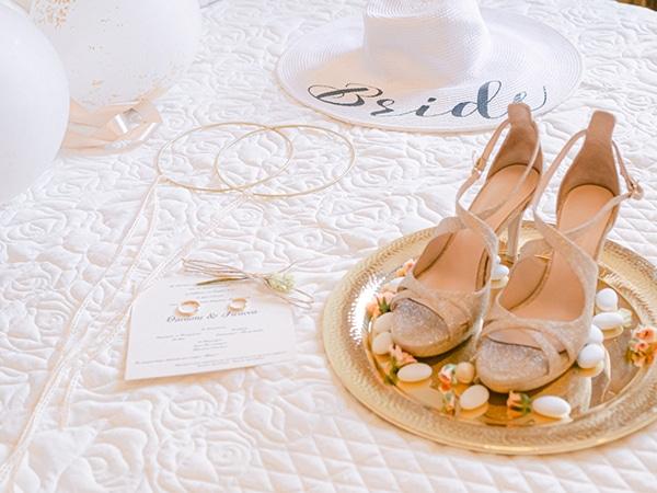 Νυφικά παπούτσια Bilero σε nude χρώμα