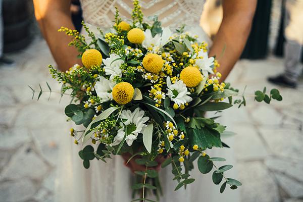 Νυφικές ανθοδέσμες με κίτρινα λουλούδια που αγαπήσαμε