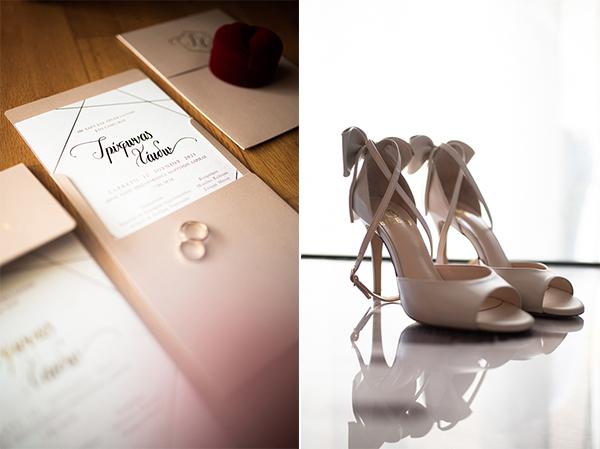 Υπέροχα νυφικά σανδάλια σε ρομαντικό στυλ και nude χρώμα