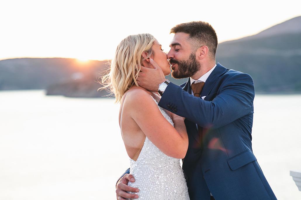 Νησιώτικος γάμος το καλοκαίρι στην Σκύρο με λευκό λυσιάνθο και ελιά │ Νατάσα και Μάνος
