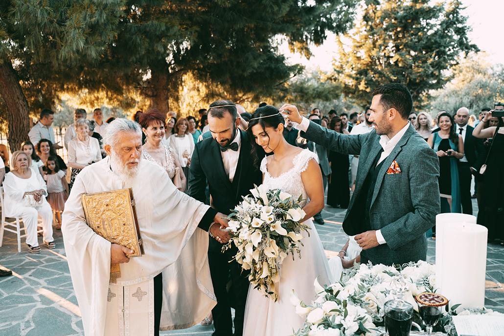 Ρομαντικός καλοκαιρινός γάμος με λευκές κάλλες και κρίνα │ Κατερίνα & Ανδρέας